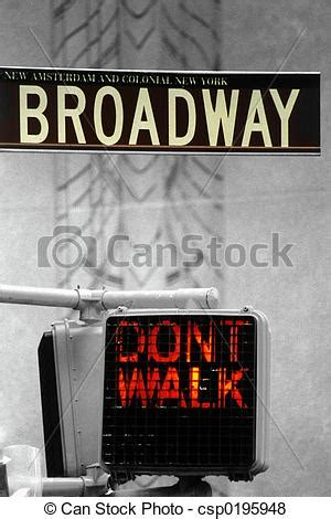 Pictures Of Broadway  Dont Walk  Broadway Sign & Dont