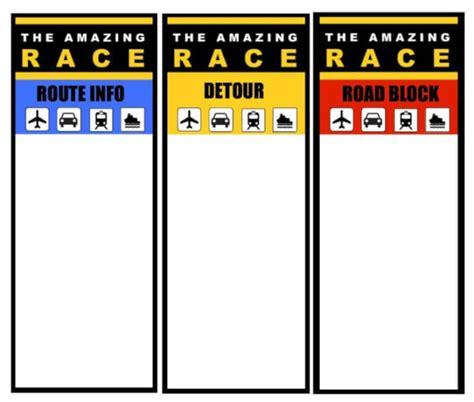 The Amazing Race Clue Template run the amazing race boys birthday sugar plum