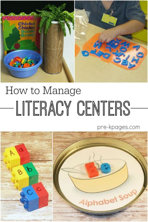 how to manage literacy centers center management