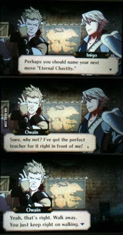 owain   rare moment  scathing wit fire emblem