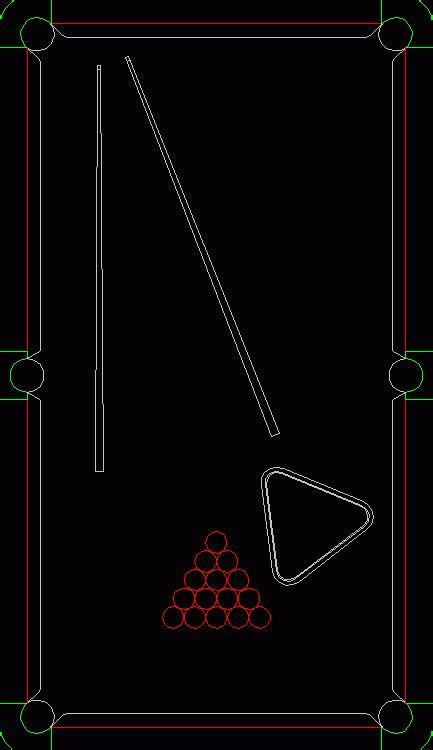 pool table  dwg block  autocad designs cad