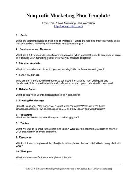 Template Affiliate Program by Nonprofit Marketing Plan Template Summary By Kivi Leroux