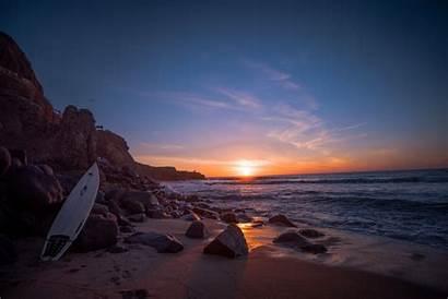 Surfboard Sunset Surf Summer Leaning Rock Water