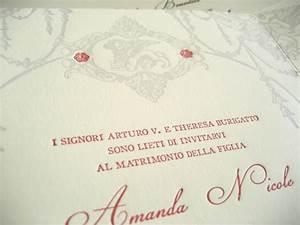 james amanda39s vintage inspired italian wedding invitations With wedding invitations wording in italian