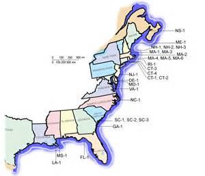 East Coast States Map