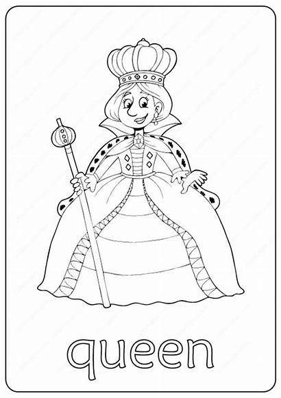 Queen Coloring Pages Printable Pdf Coloringoo Books