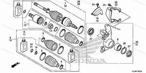 Honda Side By Side 2016 Oem Parts Diagram For Front