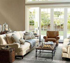 carlisle upholstered sofa traditional sofas With carlisle couch pottery barn