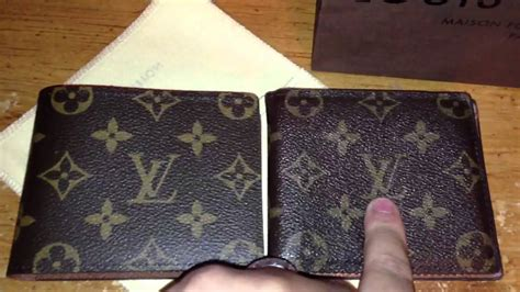 louis vuitton real  fake mens wallet youtube