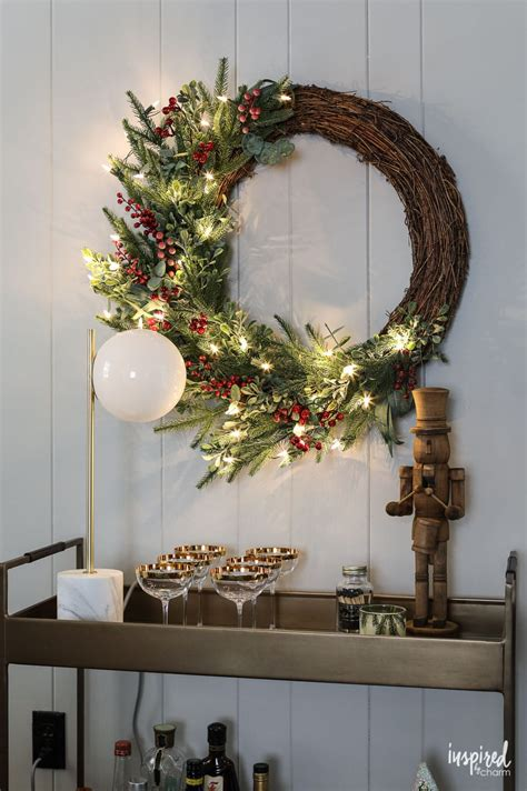 and rustic mantel