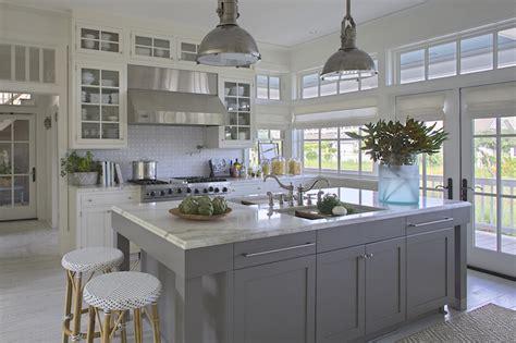 cottage kitchen island gray kitchen island cottage kitchen grace interiors