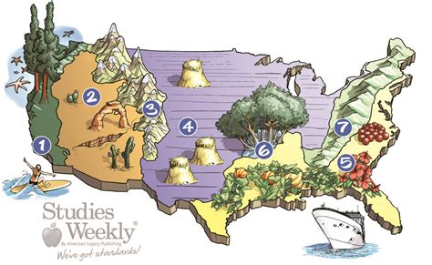 United States Landform Regions Map