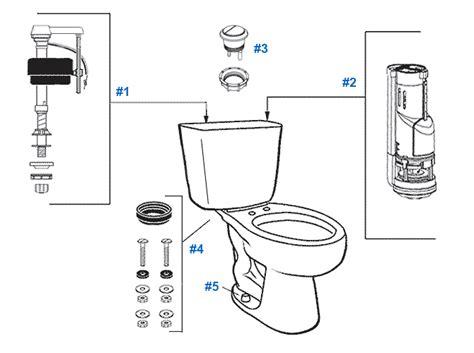 toilet flush valve kohler parts diagram of inside tank