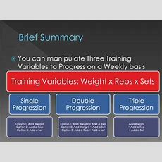 Basic Progression In Strength Training With Sdt Single, Double, And Triple Progression Youtube