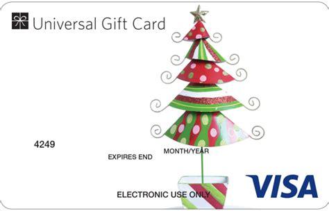 universal visa gift card christmas tree