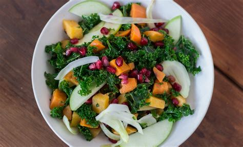 winter kale salad with kombucha vinaigrette recipes noshon it
