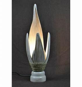 Lampe Cuivre Maison Du Monde : lampe de chevet ethnique chic exotique originale feuille de cocotier ~ Teatrodelosmanantiales.com Idées de Décoration