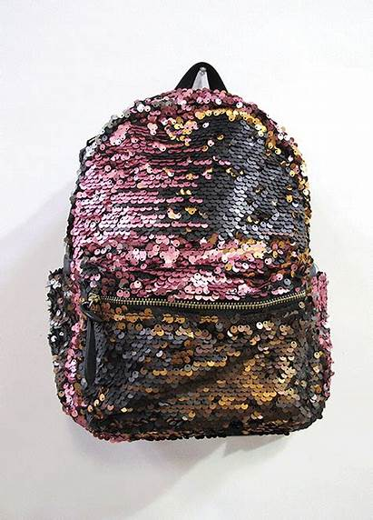 Backpack Sequin Velour Changing Sequins Magic Brush