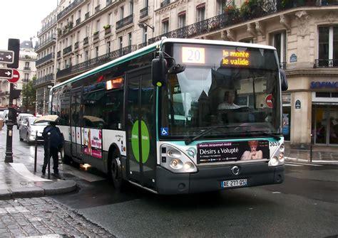 Irisbus Citelis Line Ratp N°3639, Ligne 20 à Paris