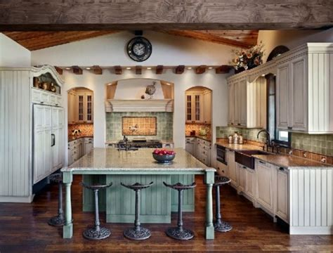 farmhouse style kitchen islands casali idee di design e arredamento arredamento 7166