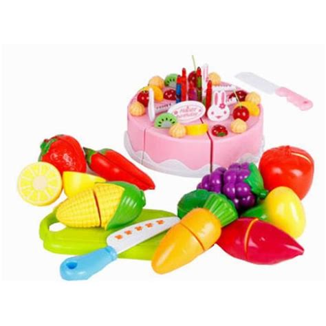 jeux enfants cuisine jeux enfants jouet enfant cuisine pour enfant fruits et légumes et gâteau 49pcs achat vente