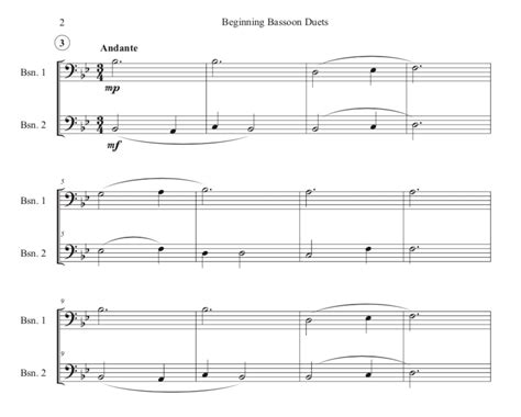 Beginning Bassoon Duets (digital Download)