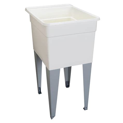 home depot laundry sink mustee 18 in x 24 in plastic utilatub single laundry tub