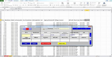 Create Databases In Excel From A Flexible Input Mask With
