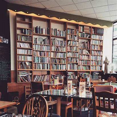 Cafe Books Coffee Reading Bookstore Lover Library