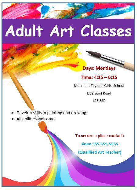 painting workshop flyer painting workshop pamphlet