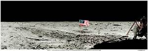 Neil Armstrong Apollo 11 Panorama Photo on the lunar surface