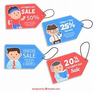 Nice father's day special offer tags Vector | Free Download