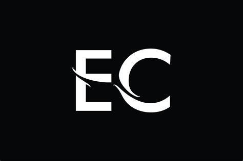 ec monogram logo design  vectorseller thehungryjpegcom
