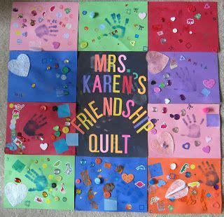 friendship quot quilt quot with construction paper great way to 573 | d2c03de14abd44cf23b07ee895b7abd2