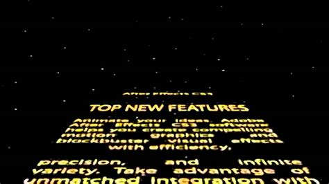 adobe  effect  template star wars intro youtube