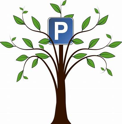 Tree Clipart Trunk Clip Drawing Cliparts Parking