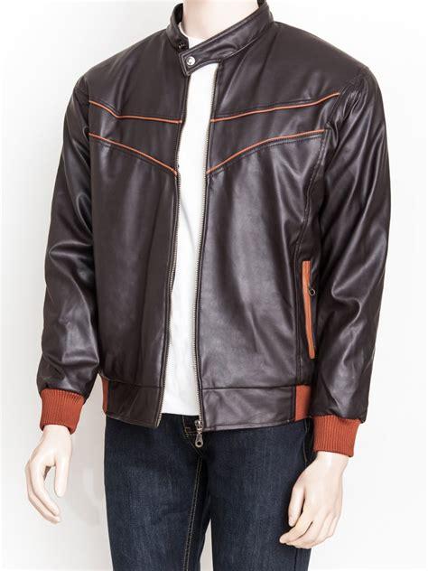 jual beli jaket kulit sintetis premium warna hitam