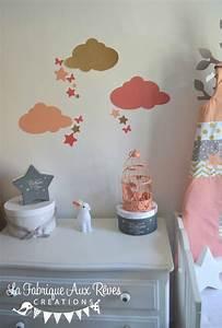 Decoration Nuage Chambre Bébé : stickers d coration chambre fille b b nuage toiles papil ~ Dallasstarsshop.com Idées de Décoration