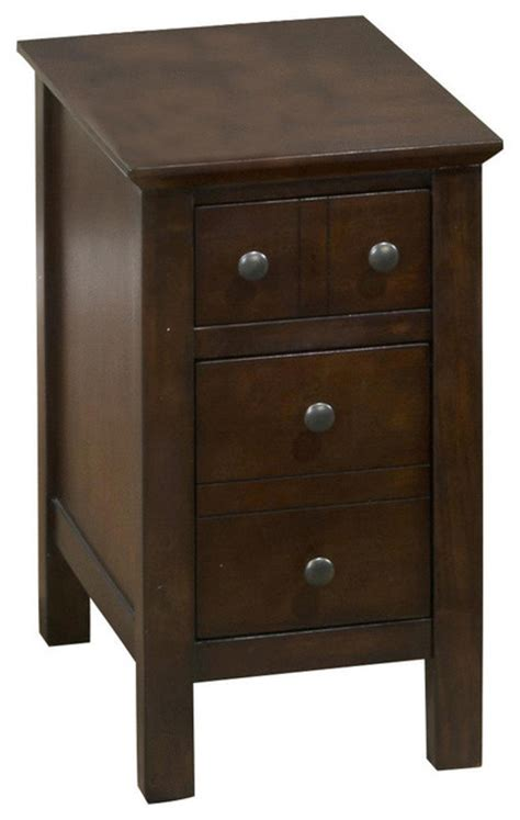 jofran 364 7 mini chairside table with 2 drawers