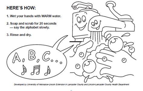 Washing Hands Coloring Page - Eskayalitim