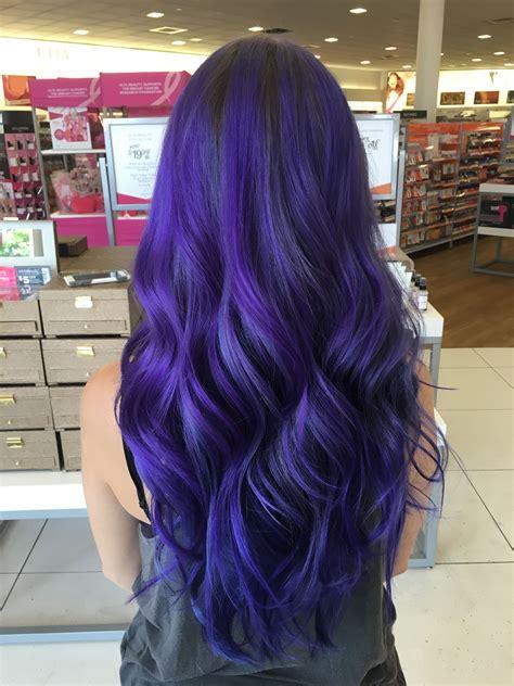 Indigo Purple Blue Hair Done With A Mix Of Pravana Vivids