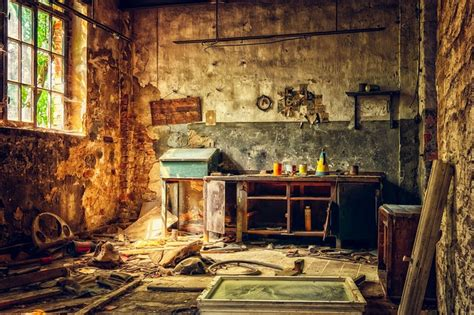 workshop lost places abandoned  photo  pixabay