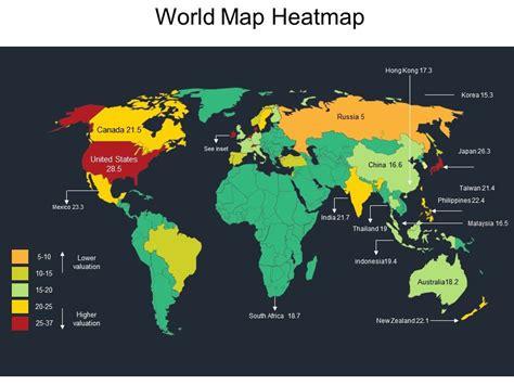 world map heatmap powerpoint templates backgrounds
