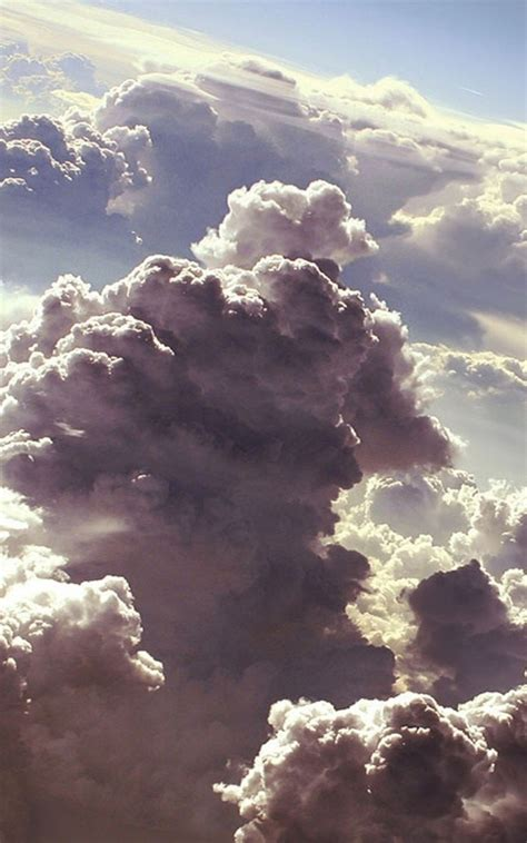 clouds artwork android wallpaper