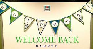 DIY Welcome Banner | Organized Classroom