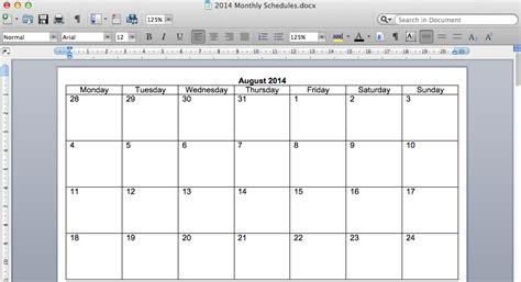 calendar printable calendar template