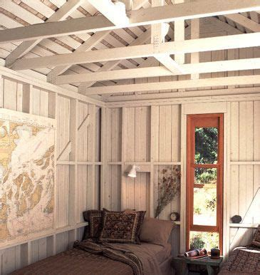 image result  exposed stud wall open cabin interiors