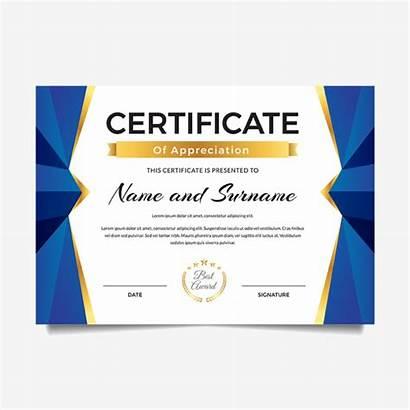 Certificate Appreciation Template Achievement Premium Templates Pngtree