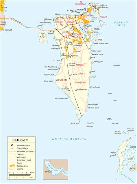 Bahrain Map, Manama - Asia
