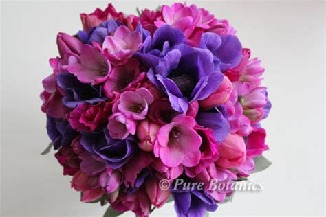 purple anemone wedding flowers pure botanics